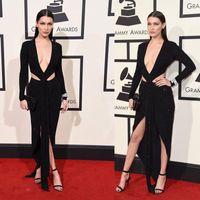 dresses new york - 2016 New York Grammy Red Carpet Celebrity Dresses Plunging V Neck Sparkles Cutaway Design Sexy Back Evening Dresses