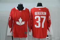 Cheap 2016-2017 Mens Team Canada 37 Bergeron Red Olympics World Cup Hockey Ice NHL Jerseys Free Drop Shipping gally