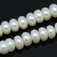 aa grade freshwater pearls - DoreenBeads Grade AA Freshwater Cultured Pearls Beads Flat Round White mm Dia cm quot long Strand Fashion