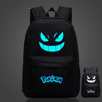animation schools - Hot Game Backpack Poke Go Gengar Pikachu Galaxy Luminous Printing Backpack Animation School Bags for Teenagers Mochila