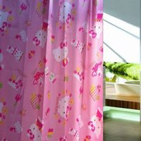 Wholesale 2016 Sale Promotion American Style Scenic Eco friendly Peva Hellokitty High end Shower Curtain Curtain