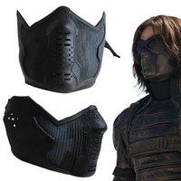 Wholesale Hot Movie Captain America Winter Soldier James Buchanan Bucky Barnes Cosplay Latex Mask Suit Party Unisex