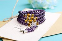 amethyst rosary bracelet - 108 synthetic Amethyst Bracelet Rosary four hand ring on the night market stall must direct manufacturers