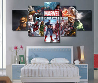 artwork calligraphy - 5 Panels The Avengers Artwork Canvas Painting Wall Art Canvas Paintings For Living Room Wall Cuadros Canvas Prints Cuadros z