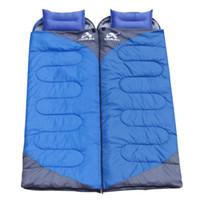 Wholesale 1kg KG KG KG Lightweight Waterproof splice Hollow fiber filling Sleeping Bag for Adults Camping Hiking