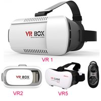 Wholesale VR Box Virtual Reality D Helmet VR Glasses Case Headset For Smartphone inch inch DHL Free OTH161