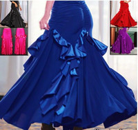 ballroom dancing skirts practice - 2016 Clothing For Ballroom Dancing Flamenco Dance Skirt Waltz Dance Dresses Standard Ballroom Skirts Competition Performance Practice