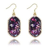 Cheap 12 pair lot Fashion Earrings for Women Lady Kendra Jewelry Classic Style Acrylic Dangle Earrings eb