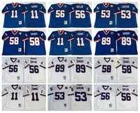 bank uniforms - Newest Lawrence Taylor Jersey Throwback Mark Bavaro Uniforms Phil Simms Harry Carson Carl Banks Fashion Team Color Blue White