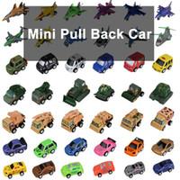 Zorn juguetes Mini-Tire hacia atrás del coche de plástico de ingeniería vehículos coche / avión / coche de la policía / militar vehículos / modelo de coche / moto por mayor 58 del estilo