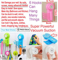 Wholesale Vacuum Suction Cup Sucker Wall Window Bathroom Kitchen Hanger Hooks Ensure surface is clean and smooth