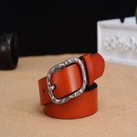 Wholesale Belt Ms Han edition leisure joker pin buckle leather belt pure cowhide retro ladies fashion belts