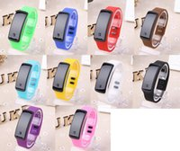 Wholesale Children Candy Bracelet Watch - 2016 NEW LED watches men women children student watch lovers Fashion leisure Sport Silicone candy bracelets waterproof electronic watch gift
