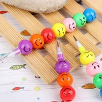 Wholesale New Smiley Pencils Creative Sugar Coated Haws Stationery Pencil Kid Children School Office Supplies Prize Gift