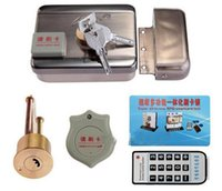 Wholesale Door Access Control System Electric Lock Remote Control Card Reader Open with double side to open by keys
