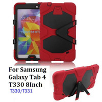 Wholesale For Galaxy Tab Case Camouflage Heavy Duty Protective Stand Tablet Bags Soft Back Cover Case For Samsung Galaxy Tab T330