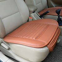 Wholesale 50pcs Bamboo Charcoal Leather Car Monolithic Seat Cover Cushion Suitable For Four Seasons With Free Gift pc jy580