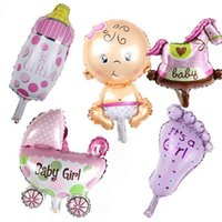 baby girl shower decorations - mini balloon baby shower party foil baby boy girl balloons Birthday Party Decoration baloes de festa