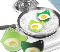 Wholesale 100 food grade Poach Pod Silicone Egg Poacher Cook Poach Pods Kitchen Cookware Poached Baking Cup Free DHL