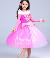 Wholesale Children Cosplay Princess Dresses Aurora Princess Fancy Party Dress Christmas Costume girls Sleeping Beauty Party Tutu Dress KKA932