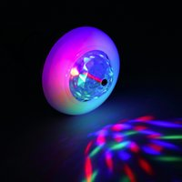 Wholesale E27 W Colorful Auto Rotating RGB LED Bulb Multifunction Crystal Stage Light Bulb Lighting For Party Club Home Decor Lamp Disco