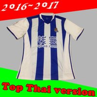Wholesale Thailand quality of the Royal Society home away jersey home blue shirt Thailand quality Real Sociedad soccer jersey