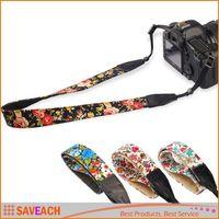Wholesale Women Girl Camera Neck Straps Vintage flowers and plants Neck Sling Camera Strap For Canon Nikon Sony SLR DSLR