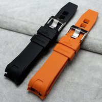 Wholesale 20mm mm Silicone Rubber Watch Strap with Deployment Buckle for Omega