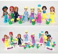 Wholesale Hot sale Princess Mini figures blocks Girl Building Blocks Minifigures Dolls Bricks Blocks for Girl Kids DIY Assemblage Toy set