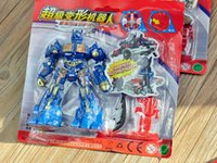 Wholesale 2015 Animation Deformation robot super trumpet super ARES Model four styles mixed gifts for childrens V15042504