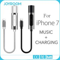 Wholesale JOYROOM mm Headphone Jack Adapter Connector Aluminum Charging and Aux Output Connector for iphone plus