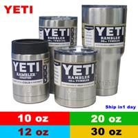 Wholesale Yeti oz oz oz oz Yeti Cups Yeti Coolers YETI Rambler Tumbler Travel Vehicle Beer Mug Double Wall Bilayer Vacuum Insulated OTH242