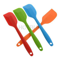 Wholesale Wedding Silicone Cake Batter Scraper Cake Cream Butter Spatula Mixing Batter Scraper Brush Silicone Baking Tool cm