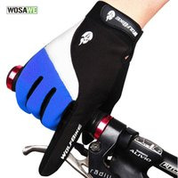 Wholesale WOSAWE Outdoor Full finger Gloves Cycling Road Mountain Bike Bicycle MTB DH Downhill Off Road Glove Mittens luvas