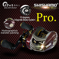 Wholesale Promote Baitcasting Reel Ball Bearings Left Hand Right Hand Bait Casting Fishing Reels Coil Gear Pesca Baitcast Reeling
