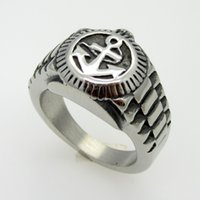 best heavy metal - Size to Size High Quality unisex Rings Stainless Steel Heavy Metal Anchors Ring Jewelry Punk Rings For Girl s Best Party Gift