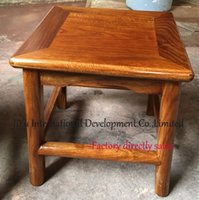 Wholesale Antique square stool home child siting casual stool in natural lacquer craft luxury African Red sandalwood CM heigth