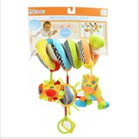 baby car toys activity - Jollybaby New Arrival Cute Activity Stroller Car Seat Cot Lathe Hanging Babyplay Travel Newborn Baby Rattles Infant Toys WJ299
