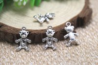 antique teddies - 30pcs Teddy bear Charms Antique Tibetan silver Teddy bear charm pendants x17mm
