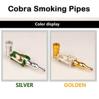 aluminum healthy - Cobra Smoking Pipes Resin Aluminum Pipes Smoking Accessories Snake Type Pipes Portable Mini Pipes More Comfortable More Healthy
