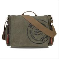 Wholesale Hot Sale Veevan vintage men messenger bags canvas shoulder bag men business bag printing travel bag