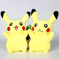 Wholesale Pikachu Plush dolls cm inch Poke plush toys cartoon poke Stuffed animals toys soft Christmas toys best Gifts Free ship
