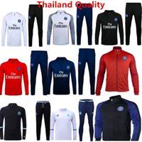 Wholesale Team Tracksuits PSG Jackets Olympic Marseille Sportsear Soccer Jerseys Di Maria Training Sets Cavani Sweater Suit Long Pants Kits Sets