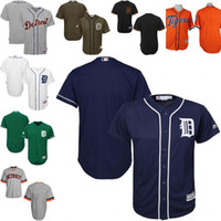 authentic mlb jerseys - Blue white green Gray Blank Authentic Jersey Men s Majestic MLB Detroit Tigers Cool Base Jersey