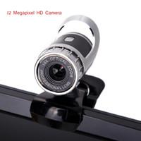 Wholesale New USB Megapixel HD Webcam Camera Web Cam Digital Video Webcamera with Microphone MIC for Computer PC Laptop Black