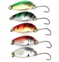 Wholesale Hot New Arrival g mm Spinner Spoon Fishing Lure Metal Lures Colorful Hard Baits
