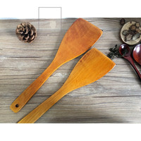 Wholesale Long Handle Shovel Kitchen Accessories Kitchen Utensils High Temperature Resistant Wooden Spatula Cooking Shovel For Pots
