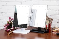 led light magnifying mirror - 20 LED Battery Operated Cordless Touch Screen Lighted Vanity Cosmetic Mirror