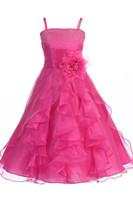 beaded lanyards - Gauze Ruffled Flower Girls Dresses new beaded lanyards little girl Dress lovely beauty flower girl tutu fashion plus size