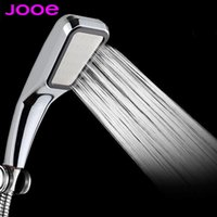 Wholesale 300 hole Pressurized Water Saving Shower Head ABS With Chrome Plated Bathroom Hand Shower Water Booster Showerhead